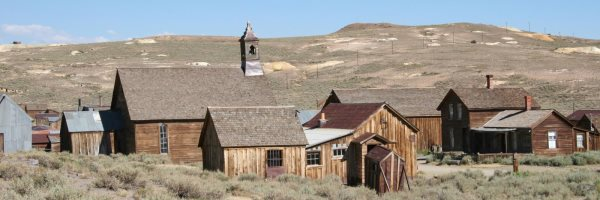 Bodie: Buschbrand nahe State Historic Park