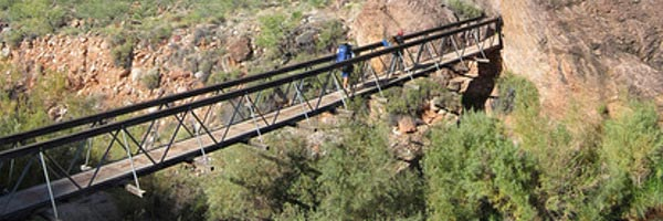 Grand Canyon: Ribbon Falls Bridge wird repariert