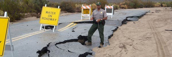 Joshua Tree: Straßensperren nach flash floods