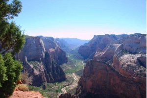 Blick vom Observation Point in den Zion Canyon. Foto: Michael Schlebach